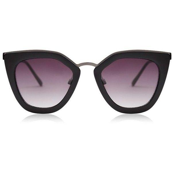 Olivia Kitten Frame Sunglasses by Skinnydip ($60) ❤ liked on Polyvore featuring accessories, eyewear, sunglasses, metal frame glasses, retro style sunglasses, topshop sunglasses, metal frame sunglasses and dark tint sunglasses