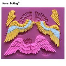 3 Para Engel Flügel Form 3D Silikon Fondant Kuchen Mold DIY Backenwerkzeuge -- C694(China (Mainland))