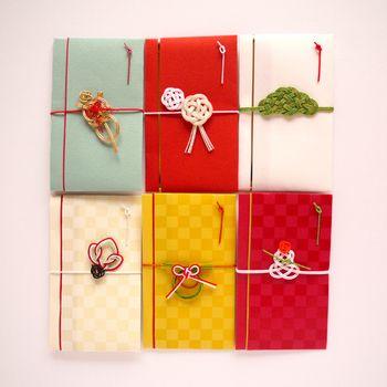 「ミニ金封(ぽち袋)/スタイリッシュ・クラシック・シーズン」 正月モチーフの水引がお年玉やお年賀にピッタリ。こんな可愛いポチ袋でお年玉を貰えたら一生の思い出になるかも♪