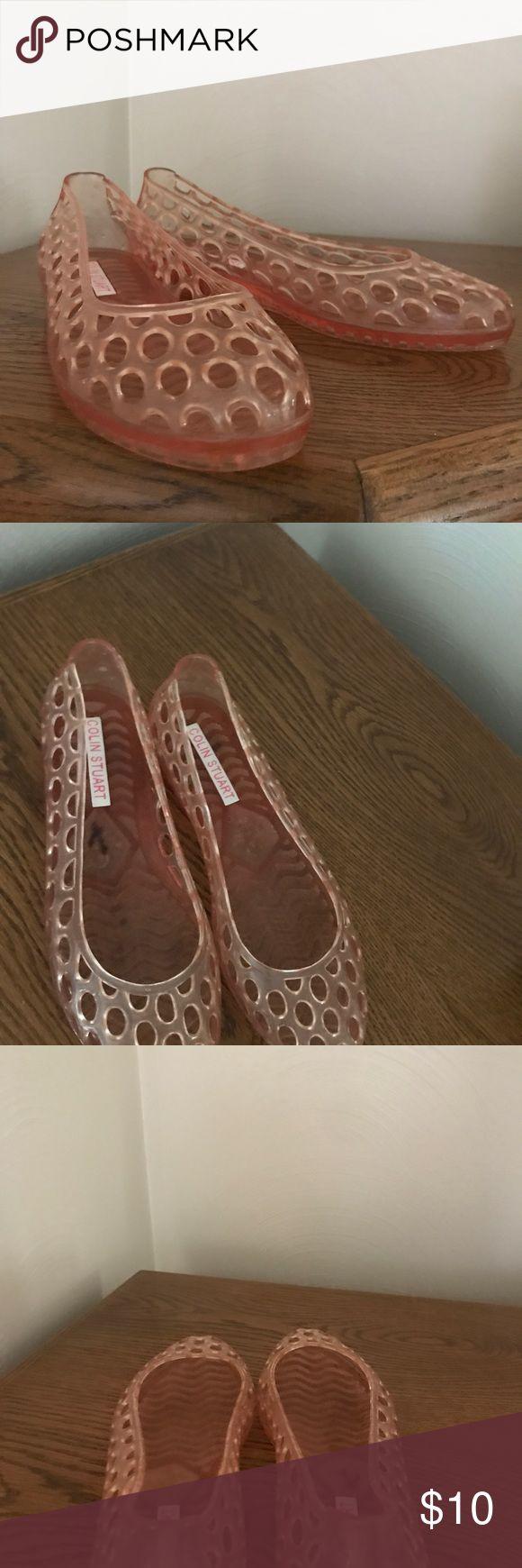 Colin Stuart pink jelly shoes Colin Stuart pink jelly shoes. Lightly-worn, size medium. Colin Stuart Shoes Flats & Loafers