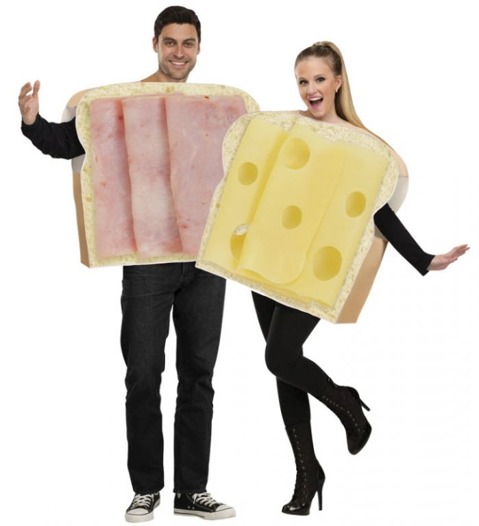 Ham And Swiss Couples Costume - Adult Costumes