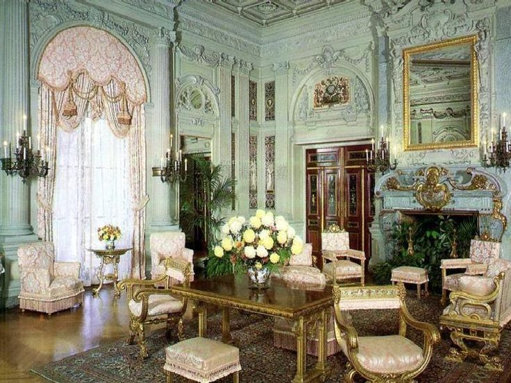 Mrs. Vanderbilt's morning room at the Breakers is certainly a grand settingRhode Islands, Newport Mansions, Drawing Room, The Breakers, Room Decor Ideas, Newport Ri, Mornings Room, Sitting Room, My Style
