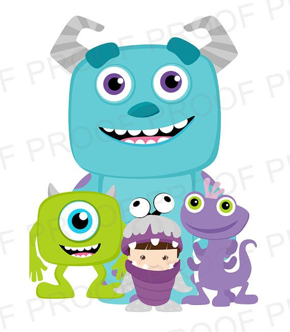 INSTANT DOWNLOAD- Monsters INC. Printable Party Signs