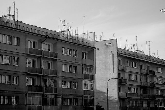 social housing in #wroclaw, modernism #architecture