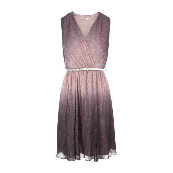 Ombre Pleated Dress Rickis (345 BRL) ❤ liked on Polyvore featuring dresses, vestidos, ombre dress, purple pleated dress, purple ombre dress, purple dress and pleated dress