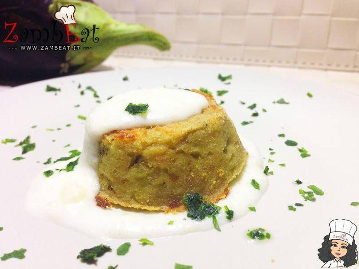 TORTINO DI MELANZANE CON CREMA DI TALEGGIO - ZambEat - Blog di Cucina