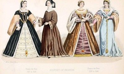 Francis I. 1515 to 1545. Renaissance fashion.