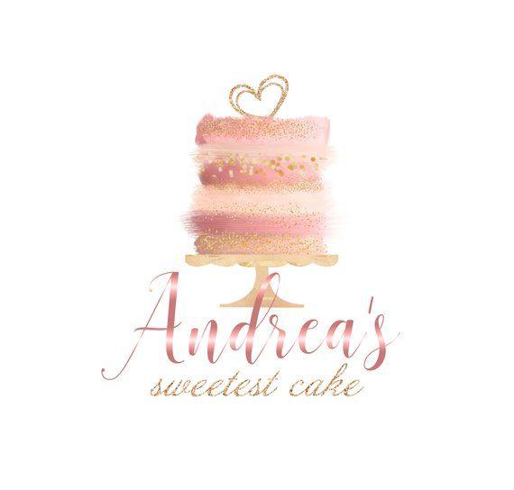 cake logo design watercolor Sweet blush cake logo, Watercolor Logo, watercolor strokes logo