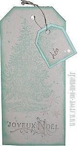 tag etiquette pour décorer les paquets cadeaux de noel
