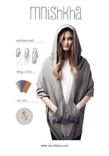 MNISHKHA dark grey classic sweatsuit with light bottom by mnishkha, zł170.00