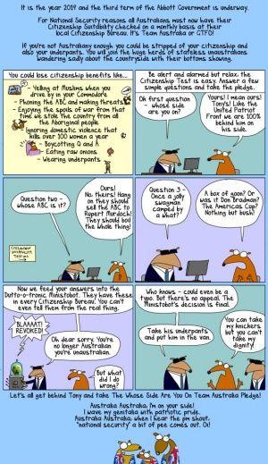 First Dog on the Moon, cartoon, Australia, Team Australia, picture, image, politics,