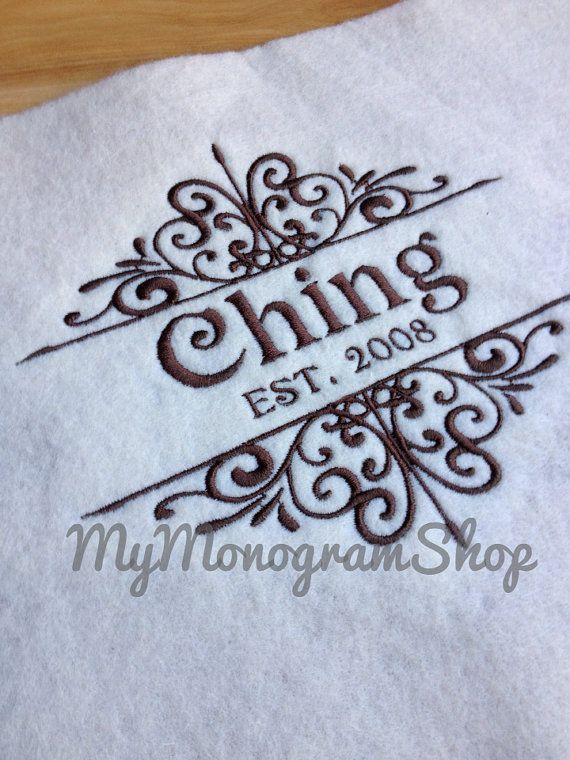 Personalized Kitchen Towel Embroidered Kitchen by MyMonogramShop, $18.99
