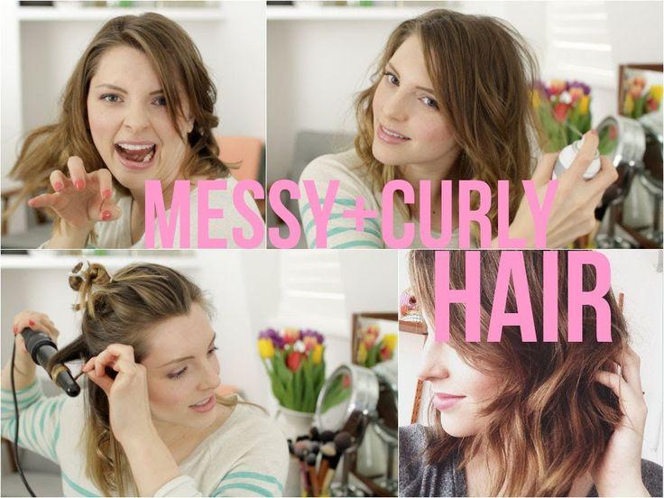 Messy Curly Hair Tutorial | essiebutton