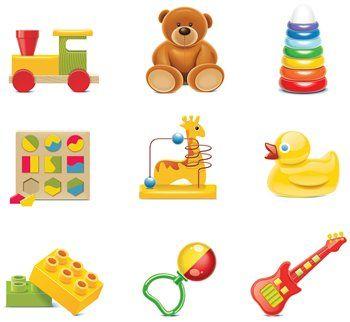Verschiedene Babyspielsachen