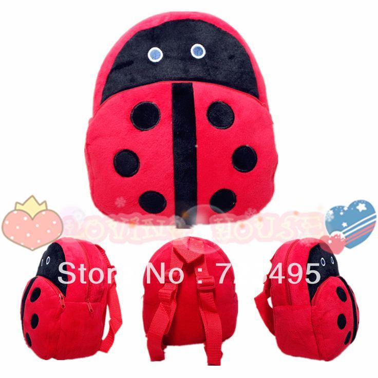 3D жук детские старинные милые мультфильмы мешки / плюшевые небольшие рюкзаки для девочек и мальчиков в рюкзаки детские