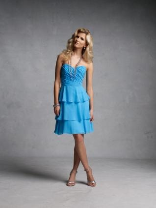 Sweetheart Multi-Layer Chiffon Bridesmaid Dress$68.38#Repin By:Pinterest++ for iPad#