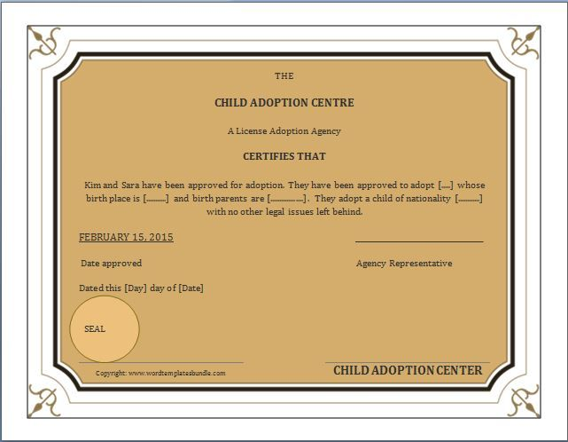 When a child is adopted, an amended birth certificate (ABC) is - birth certificate word template