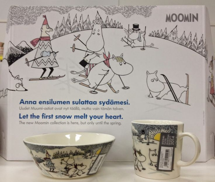 Skiing with Mr Brisk Moomin Arabia Collection