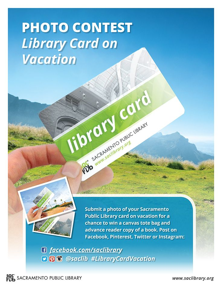 Best Library Card On Vacation Images On   Library
