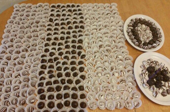 400 truffles for wedding reception June 2015 Truffles