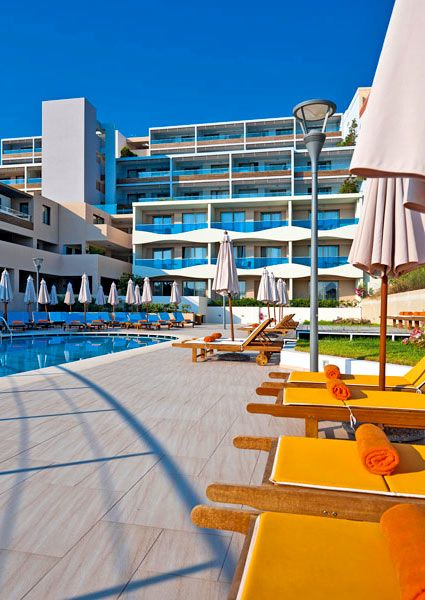 Iolida Beach Hotel in Agia Marina, Chania, Crete. Built in front of the sandy beach, this 5-star hotel offers excellent facilities and a vast range of recreational services.