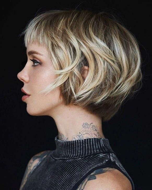 75 Cute Bob Haircuts And Hairstyles Inspired 2019 In 2020 Bob Hairstyles With Bangs Bob Hairstyles Bob Haircut With Bangs