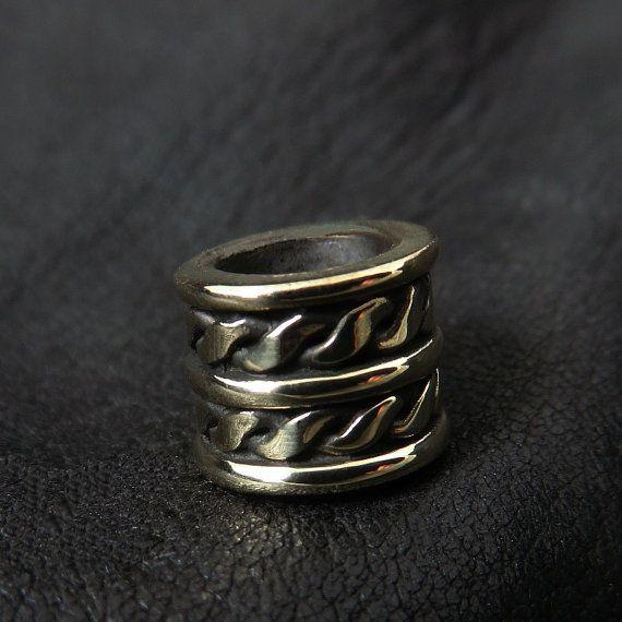 Bronze beard bead by Sulik on Etsy
