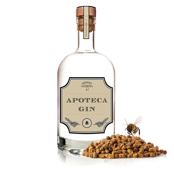 Apoteca Gin, 22 botanicals including bee bread and propolis