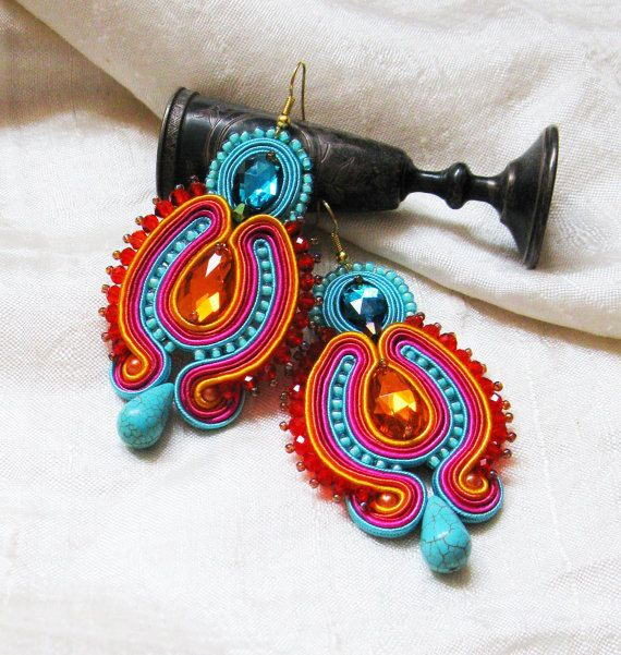 Hey, I found this really awesome Etsy listing at https://www.etsy.com/au/listing/209407443/colorful-earrings-dangle-earrings
