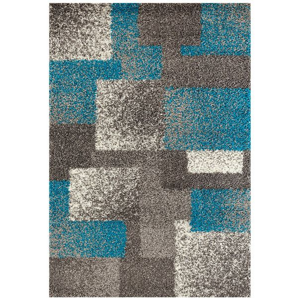 World Rug Gallery Florida Contemporary Geometric Boxes Shag Rug ($70) ❤ liked on Polyvore featuring home, rugs, grey, grey rug, gray area rug, geometric pattern rug, patterned rugs and grey area rug
