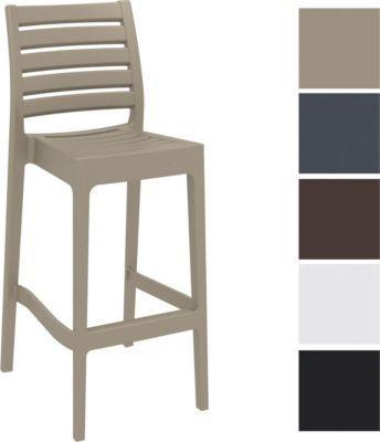Barhocker ARES, stapelbar, Sitzhöhe 75 cm, Kunststoff Tresenhocker mit Rückenlehne, Outdoor-Thekenhocker, Bistro-Stuhl für Innen- / Außen-Bereich Jetzt bestellen unter: https://moebel.ladendirekt.de/garten/gartenmoebel/gartenstuehle/?uid=c7f625c2-fcea-5857-9a70-d30f4cb61d76&utm_source=pinterest&utm_medium=pin&utm_campaign=boards #stehtische #garten #gartenmoebel #gartenstuehle