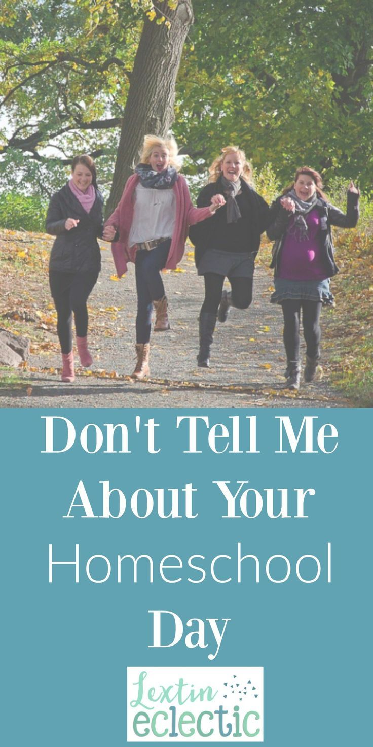 As homeschool moms let's not start conversations with discussions of curriculum or teaching styles. In fact, don't even tell me about your homeschool day.