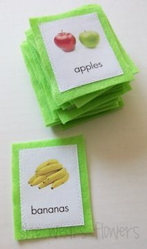 felt food cards- like PECS