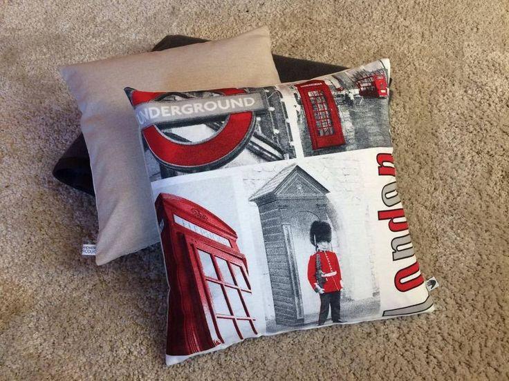 Kissenbezug 40 x 40 weiß rot schwarz London Bridge Kissenhülle ohne Kissen    eBay