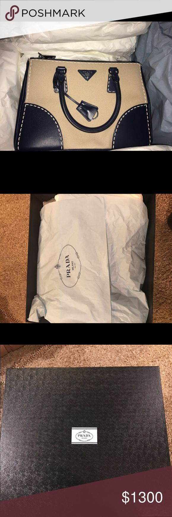2016 brand new Prada Purse,  with receipt Never been used, bought in December 2016 from Prada, in original box and packaging and has long strap, and store receipt Prada Bags Shoulder Bags