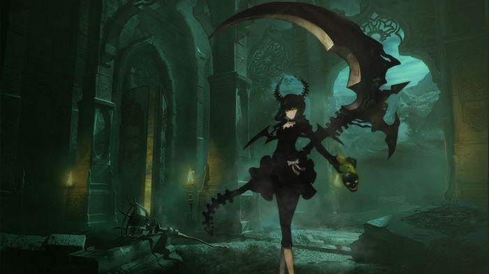 Anime Girls Anime Dead Master Black Rock Shooter Sickle Wallpaper Animes Wallpapers Wallpaper Anime