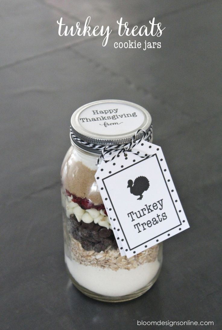 Turkey Treats Cookie Jars by @bloomdesigns | Thanksgiving Thank You Ideas | Perfect for Thanksgiving Favors