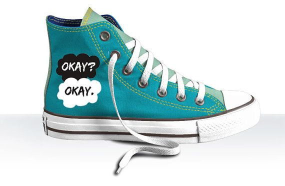 """These <a href=""""https://www.etsy.com/listing/185189653/the-fault-in-our-stars-converse?ref=sr_gallery_37&ga_search_query=The+Fault+In+Our+Stars&ga_ship_to=US&ga_search_type=all&ga_view_type=gallery"""" target=""""_blank"""">Converse sneakers.</a>"""
