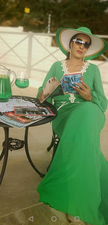 Bianca Ojukwu Dazzles In Green In 'Lockdoown' relaxation