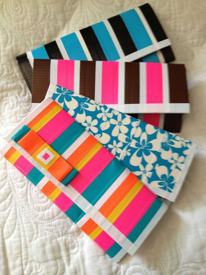 Dict tape clutches.  I have heard from a Compassion representative that duct tape crafts like this one count as paper and will go through to your sponsor child (as long as they are less than 1/4 inch thick and 8.5x11 inches around)!  I don't know how accurate that claim is, but try one and see what happens!
