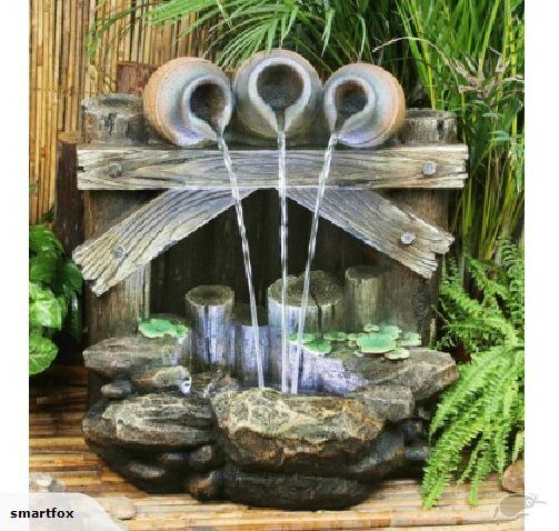 Water Feature - Three Pots on Fence   Trade Me