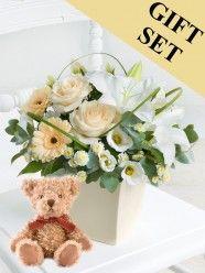 Cream Exquisite Arrangement & Bramble Bear
