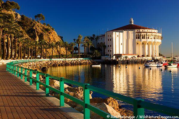 Catalina Casino Ballroom from the Casino Walkway, Avalon, Catalina Island, California