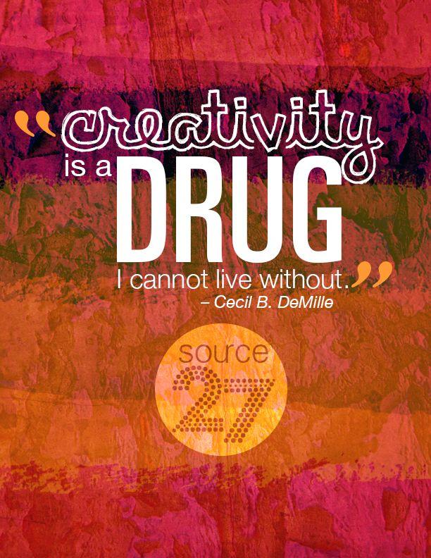 Graphic Design Inspiration Posters Creativity Drug Quote