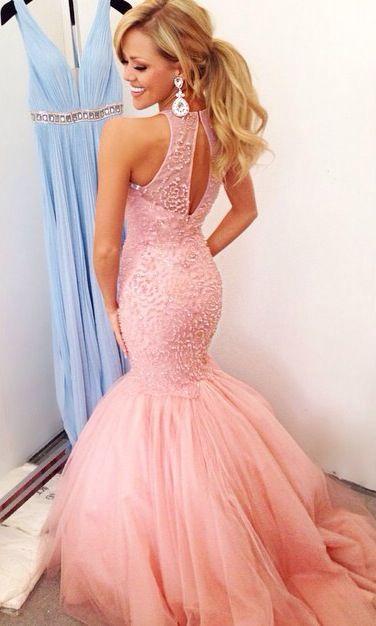 17 Best ideas about Pink Mermaid Dress on Pinterest - Ball dresses ...