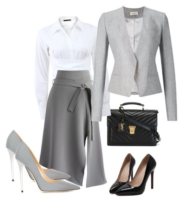 """""""Executive Wardrove"""" by fashionsignature ❤ liked on Polyvore featuring Yves Saint Laurent, Donna Karan, Chicwish, Thierry Mugler, Jimmy Choo, women's clothing, women's fashion, women, female and woman"""