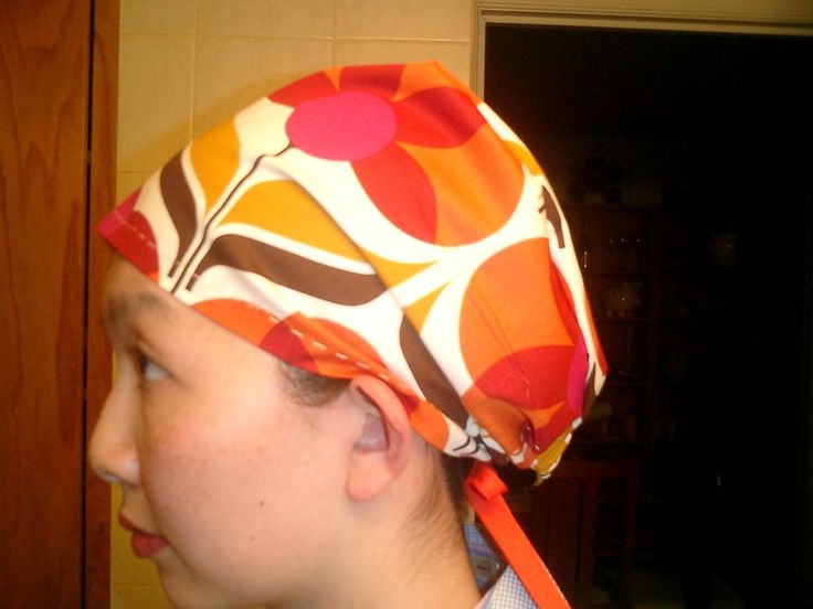 make your own scrub cap (or: how to be the classiest dork on the block)  OK, so the first thing you have to do is pick a fabric. I don't kno...