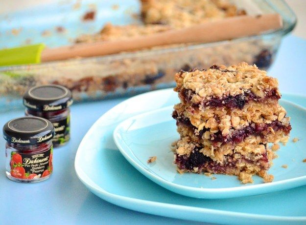 Raspberry Oatmeal Bars | Community Post: 23 Easy Dessert Bars That Will Leave You Drooling