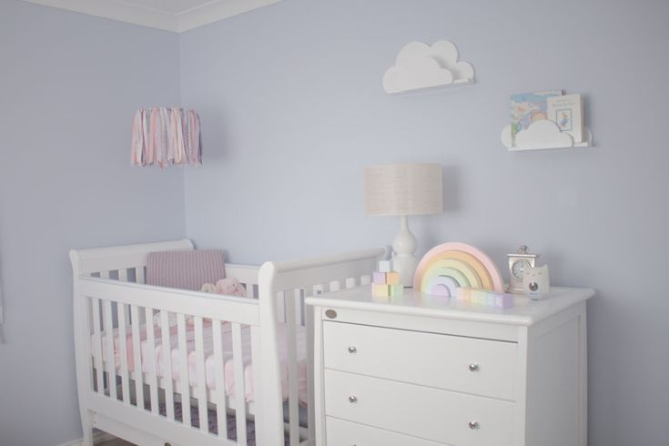 Sweet and super soft pastel nursery which is right on trend from 2016.