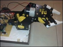 Android controlled 2 axis Pick and Place robot http://www.projectsof8051.com/android-controlled-2-axis-pick-and-place-robot/